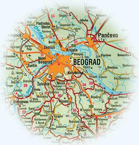 Barajevo Mapa Superjoden